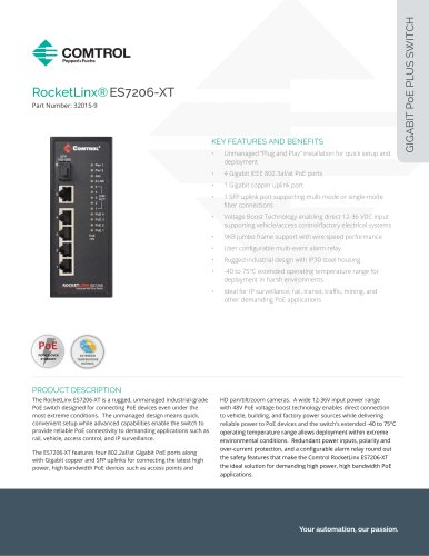 RocketLinx®ES7206-XT
