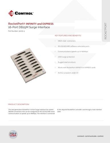 RocketPort ® 16-Port DB25M Surge Interface