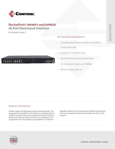 RocketPort ® 16-Port RJ45 Rack Mount Interface