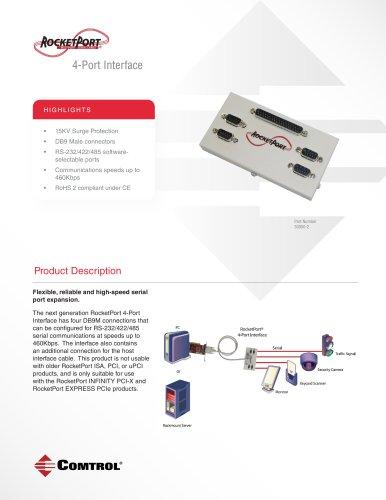 RocketPort ® 4-Port DB9M Interface