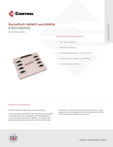 RocketPort ® 8-Port DB9 Interface