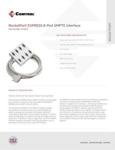 RocketPort® EXPRESS 8-Port SMPTE Interface