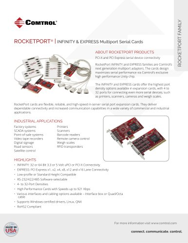 Rocketport Express and Infinity Families