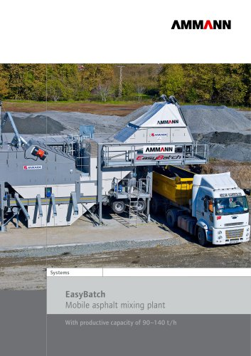 EasyBatch Mobile asphalt mixing plant