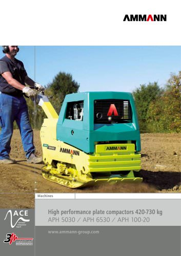 High performance plate compactors 420-730 kg APH 5030 / APH 6530 / APH 100-20