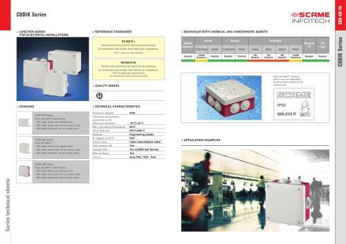 CUBIK Series Junction boxes for electrical installations