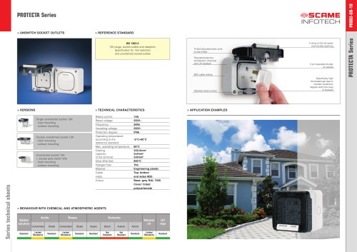 PROTECTA Series  Weatherproof switches and sockets