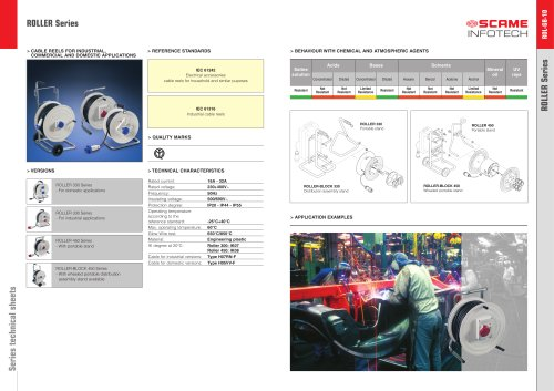 ROLLER Series  Cable reels for industrial, commercial and domestic applications