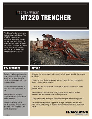 HT220 TRENCHER