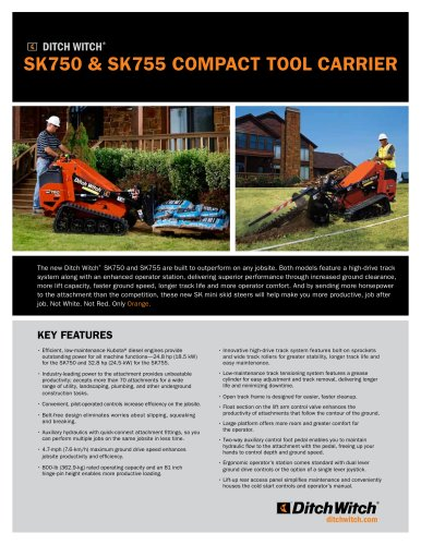 SK750 & SK755 Compact tool carrier