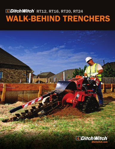 Walk-behind trenchers