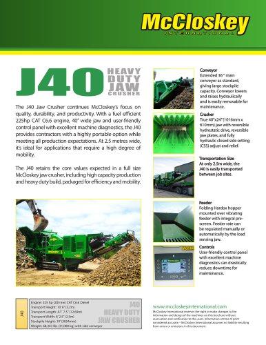 J40 Compact Jaw Crusher