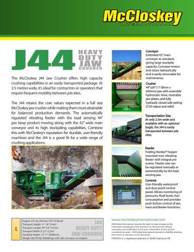 J44 Jaw Crusher