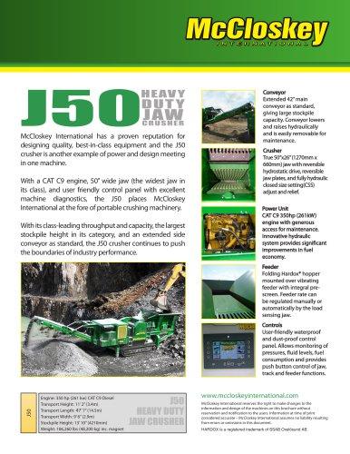 J50 Jaw Crusher