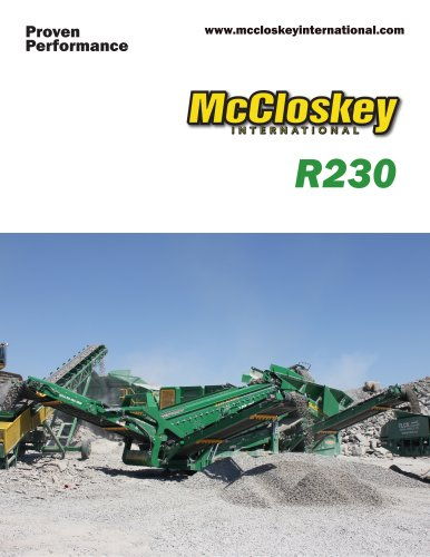 R230 - McCloskey International Limited - PDF Catalogs