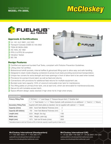 Specification Data Sheet MODEL: FH-3000L