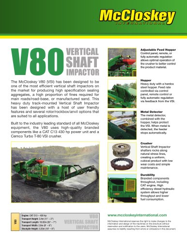 V80 vertical shaft impactor