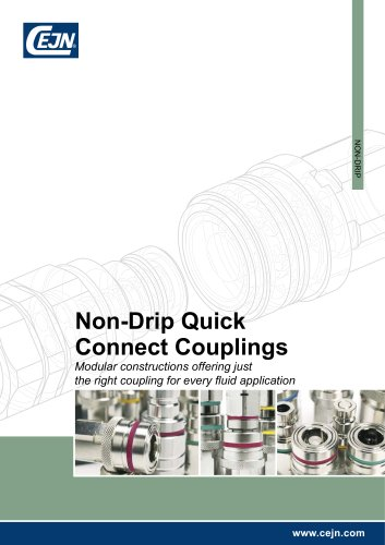 Non-Drip Quick Connect Couplings