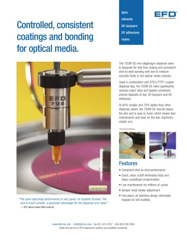 Controlled, consistent coatings and bonding for optical media