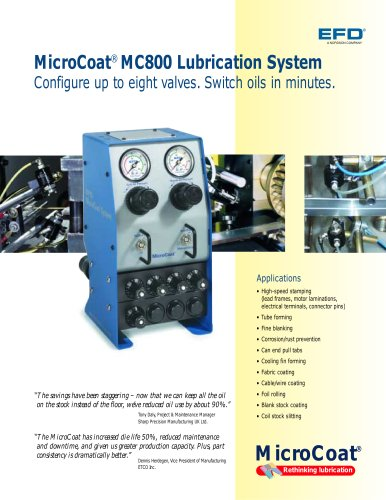 MicroCoat MC800 Lubrication System