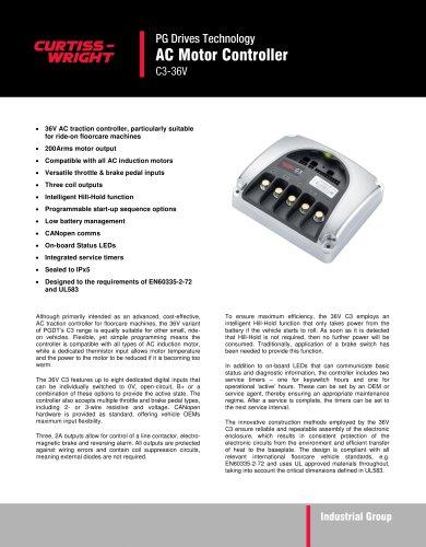 C3-36V - AC Motor Controller