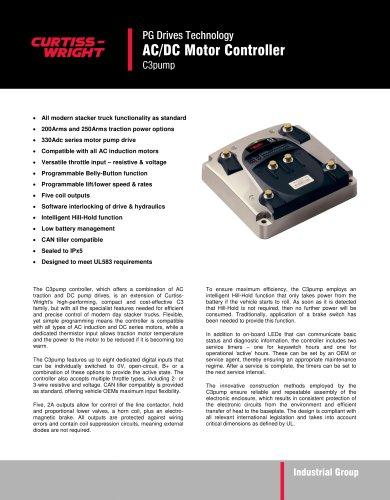 C3pump - AC/DC Motor Controller