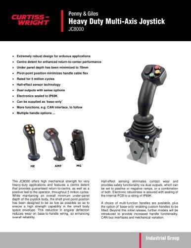 JC8000 - Heavy Duty Multi-Axis Joystick