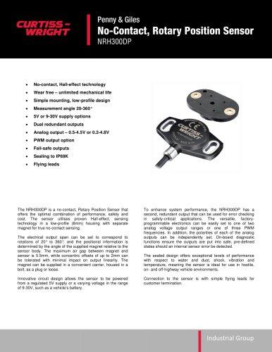 NRH300DP No-Contact, Rotary Position Sensor
