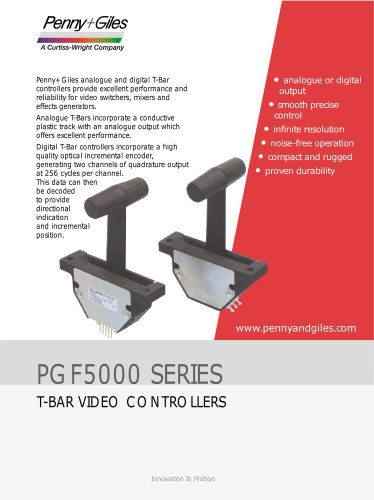 PGF5000 T-Bar Video Controllers