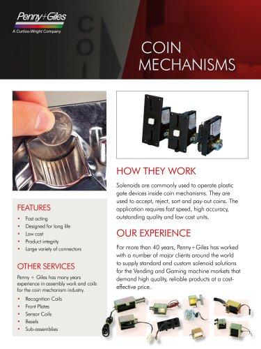Solenoids for Coin Mechanisms