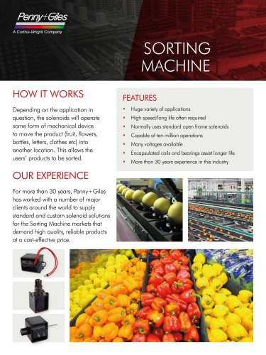 Solenoids for Sorting Machines