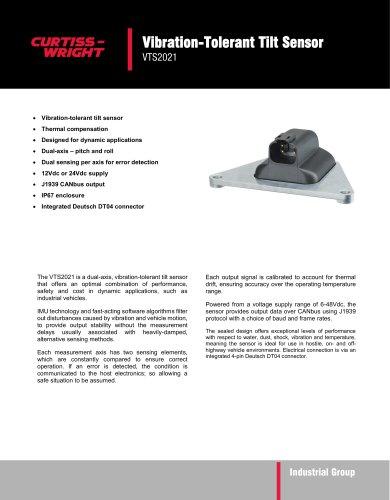 Vibration-Tolerant Tilt Sensor  VTS2021