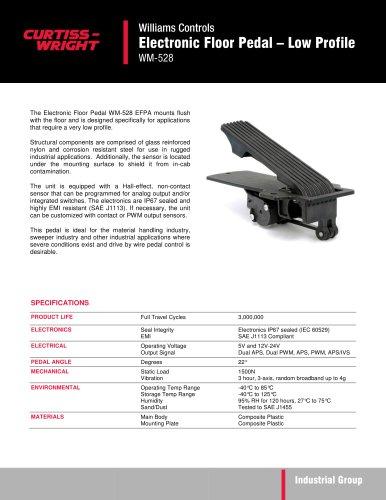 WM528 Low profile floor pedal