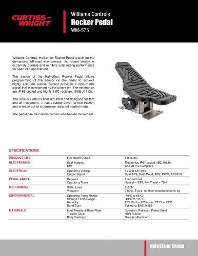 WM575 Hall effect rocker pedal