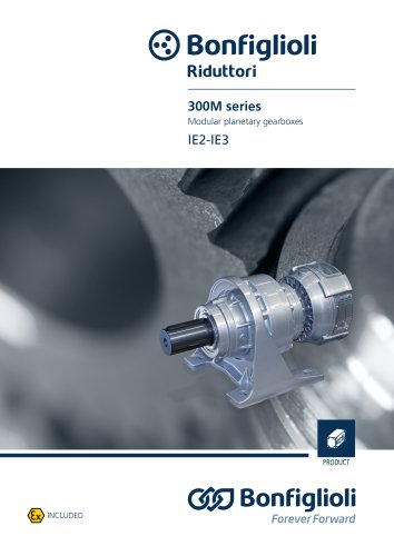 300M series Modular planetery gearboxes - IE2-IE3