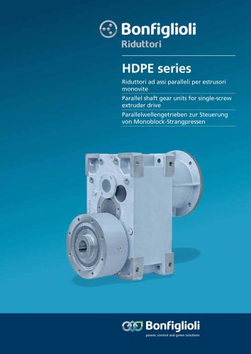 HDPE - Parallel shaft gear units for single-screw extruder drive
