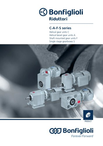 Helical and bevel-helical gear units C-A-F-S Series