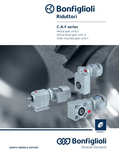 Helical and bevel-helical gear units C-A-F Series - NORTH AMERICA EDITION