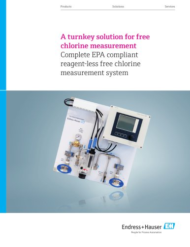A turnkey solution for free  chlorine measurement