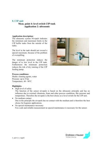 Juice application: CIP unit, Application 6