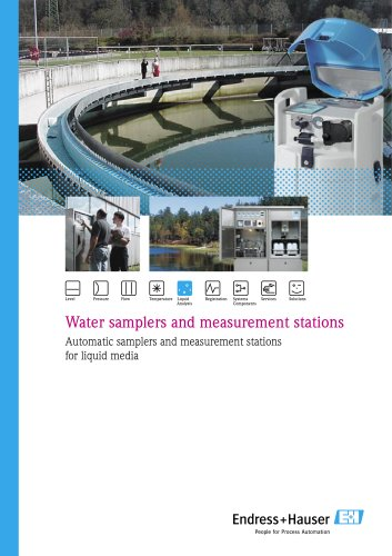 lds of activities FA water samplers and measurement stations