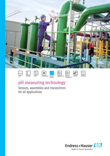 pH measuring technology, Sensors, assemblies and transmitters for all applications