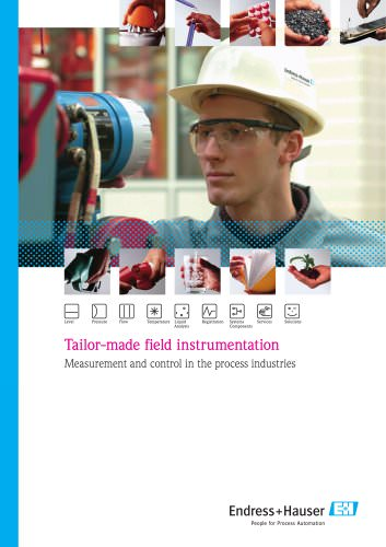 Tailor-made field instrumentation, Measurement and control in the process industries