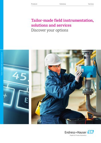 Tailor-made field instrumentation, solutions and services - Discover your options