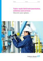 Tailor-made field instrumentation, solutions and services -Discover your options