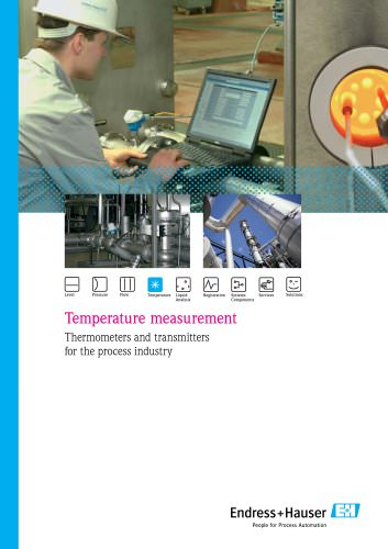 Thermometers and transmitters for the process industry