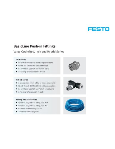 BasicLine Push-in Fittings