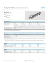 Corrosion resistant cylinders - Inch Series - 3
