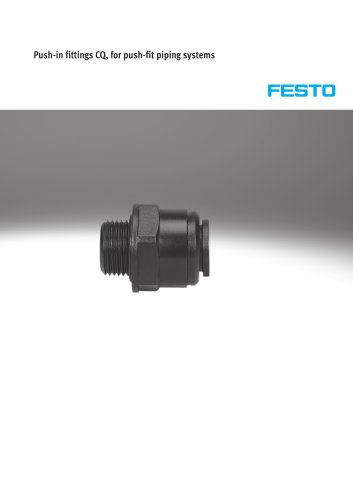 Push-in fittings CQ, for push-fit piping systems
