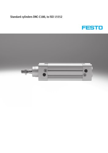 Standard cylinders DNC-C180, to ISO 15552